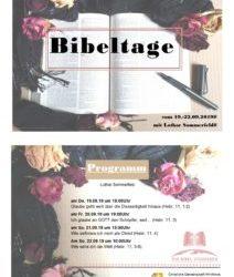 Bibeltage 19.-22.09.2019